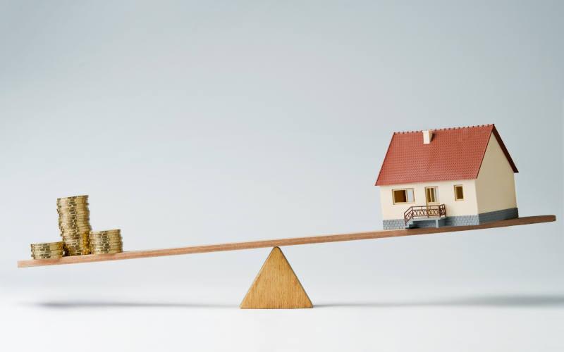 Home loans market concept